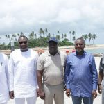 Lagos State Governor, Ambode, Dangote, And Otedola Inspect Ongoing Projets in Lagos