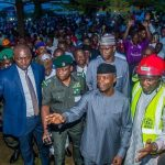 Osinbajo Visits Site of Collapsed Building in Abuja