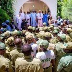 Daura Based Corps Members Pay Homage to Buhari On Eid-el-Kabir