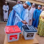 Buhari, Aisha Voted At Guber/State Assembly Polls in Daura