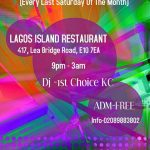 """Friday Is A Holiday: Lets Party On Thursday """"LAGOS ISLAND"""" East London"""
