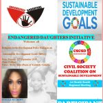ENDANGERED DAUGHTERS INITIATIVE ATTENDS THE 1ST REGIONAL POLICY DIALOGUE ON SUSTAINABLE DEVELOPMENT GOALS HOSTED BY  (CSCSD)