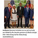 US Governor of Georgia State Hosts MC Oluomo and Son