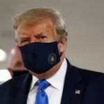 Donald Trump Finally Wears Mask in Public – Says he was never against masks
